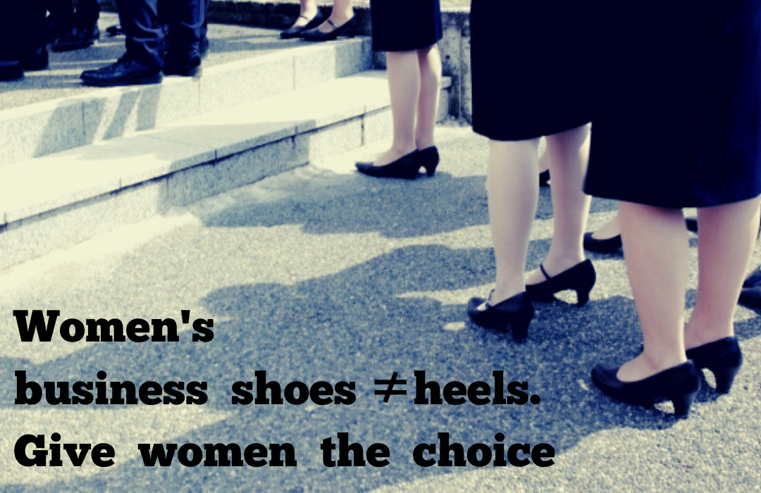 Women's business shoes ≠hells. Give wome'n the choiceのコピーのコピー